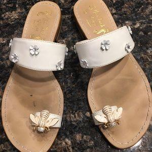 Shoes - Miss Trish white sandals